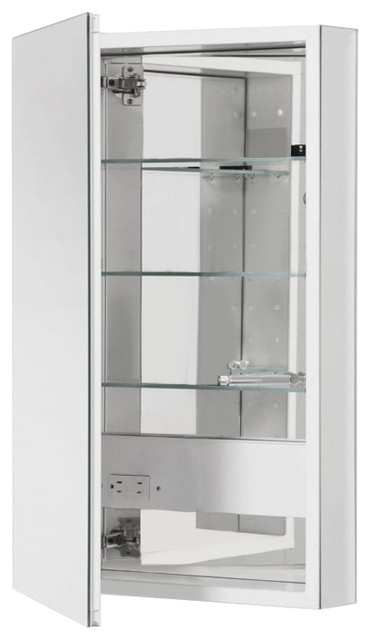 "Robern Plm2040w Pl Series Single Door 19.25""x39.63"" Medicine Cabinet, Mirrored."