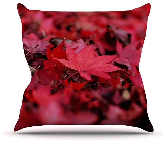 Modern Leaf Throw Pillow : KESS InHouse - Angie Turner