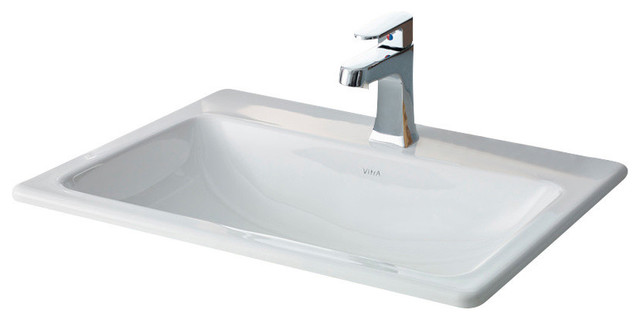 Bathroom Sinks Rectangular Drop In manhattan drop-in basin - contemporary - bathroom sinks -