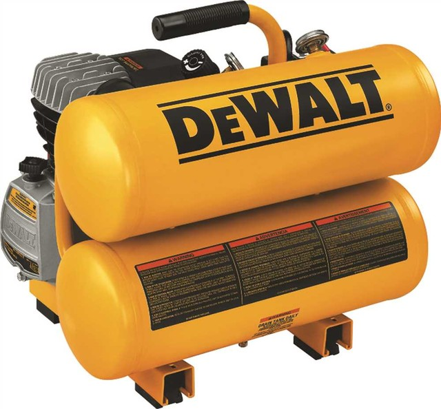 Dewalt 1.1 Hp Continuous Electric Hand Carry Compressor 4 Gallon.