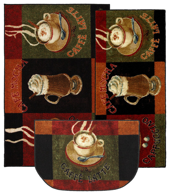 Caffe Latte Primary Rug Set, Contains 20x45, 30x46 And 18x30 Slice.