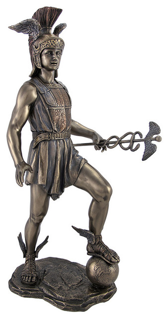 Greek God Hermes Stamping On The Earth Statue Bronzed