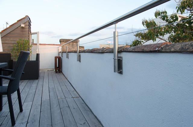 mise aux normes acrot re et barres d 39 appui de fen tre contemporain terrasse en bois paris. Black Bedroom Furniture Sets. Home Design Ideas