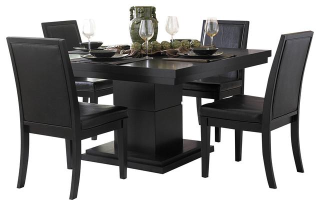 Homelegance Cicero 3 Piece Dining Room Set, Black Dining Sets
