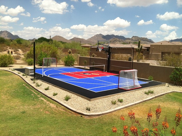 Sport court ideas for Sports pool designs