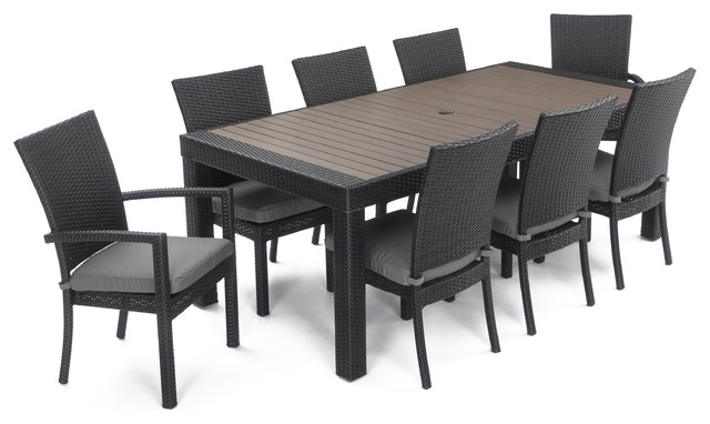 Deco 9-Piece Outdoor Dining Set by RST Brands, Charcoal
