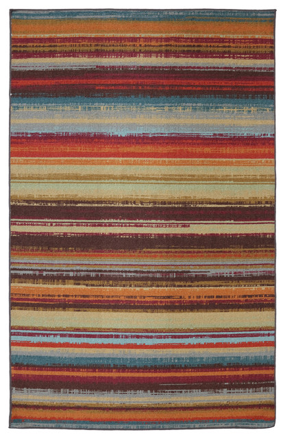 Avenue Stripe Multi Rug Contemporary Outdoor Rugs By Mohawk Home