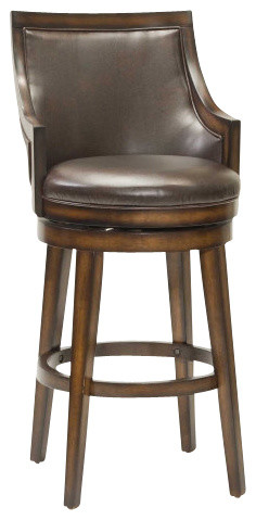 Hillsdale Furniture Lyman Swivel Counter Stool Rustic Oak
