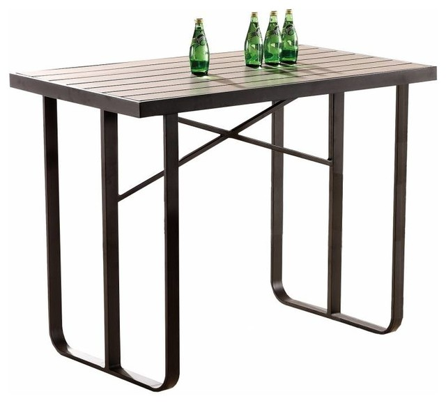 Polo Modern Outdoor Bar Table For 4 6 Contemporary Outdoor Pub And Bistro