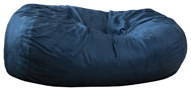 Incredible Flora Traditional 6 5 Foot Suede Bean Bag Cover Only Midnight Blue Beatyapartments Chair Design Images Beatyapartmentscom