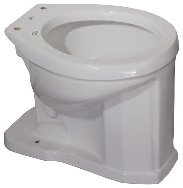 english turn high tank toilet bowl only white