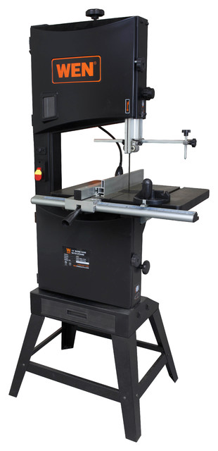 "14"" Two-Speed Band Saw With Stand And Worklight."