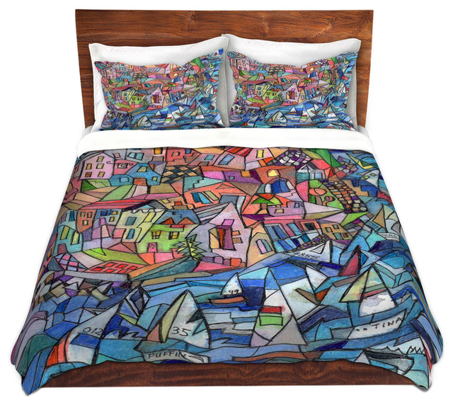 Dianoche Duvet Covers Twill By Maeve Wright Sailing In The Bay Beach Style