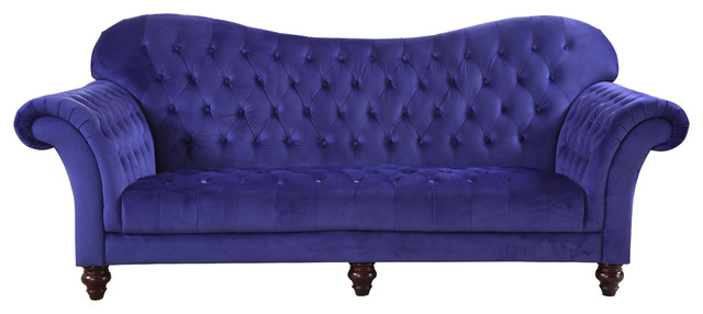 Very best Classic Tufted Velvet Victorian Sofa - Traditional - Sofas - by  RT66