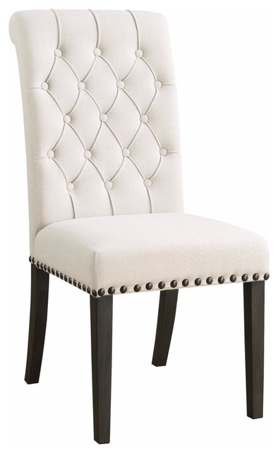 Chic Wooden Dining Side Chair, Beige, Set of 2