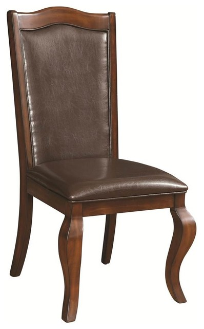 Traditional Upholstered Dining Chairs ~ Upholstered side chairs set of traditional dining
