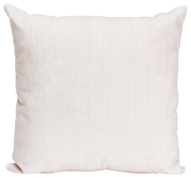 Swizzle White Velvet Pillow