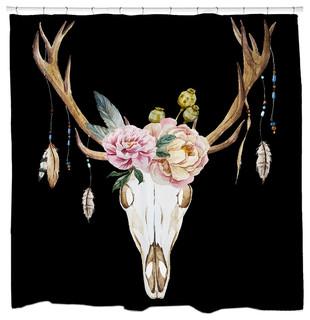 """Deer Skull Shower Curtain, 71""""x94"""", Extra Long"""