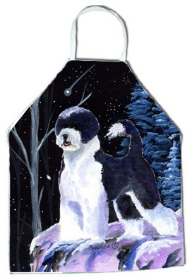 Starry Night Portuguese Water Dog Apron Traditional Aprons By The Store