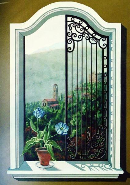 Trompe L Oeil Window Murals By Tom Taylor Of Wow Effects