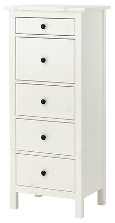 Hemnes Chest With 5 Drawers White Stain