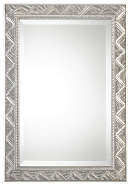 32417915bf17e8 Ioway Mirror, Metallic Silver - Transitional - Wall Mirrors - by Uttermost