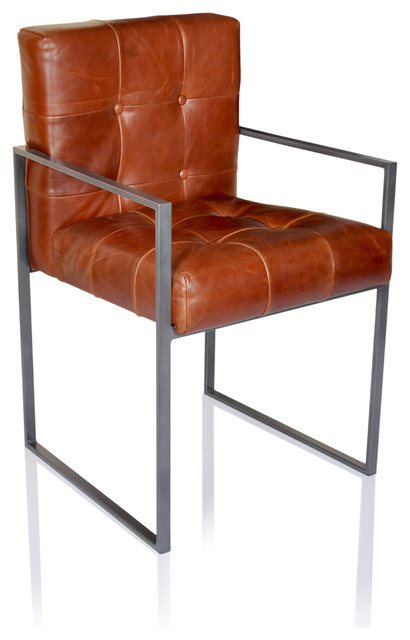 Horizon Rome Tobacco Leather Arm Chair   Transitional   Armchairs And  Accent Chairs   By Horizon Interseas, Inc