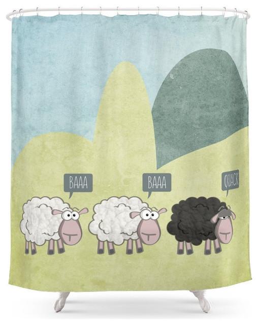 Rebel Sheep Shower Curtain