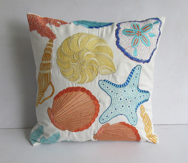 coastal beach nautical pillows tropical