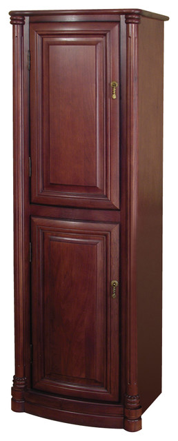 "Wingate 54"" Premium Deep Cherry Linen Cabinet - Traditional - Bathroom Cabinets And Shelves - by ..."