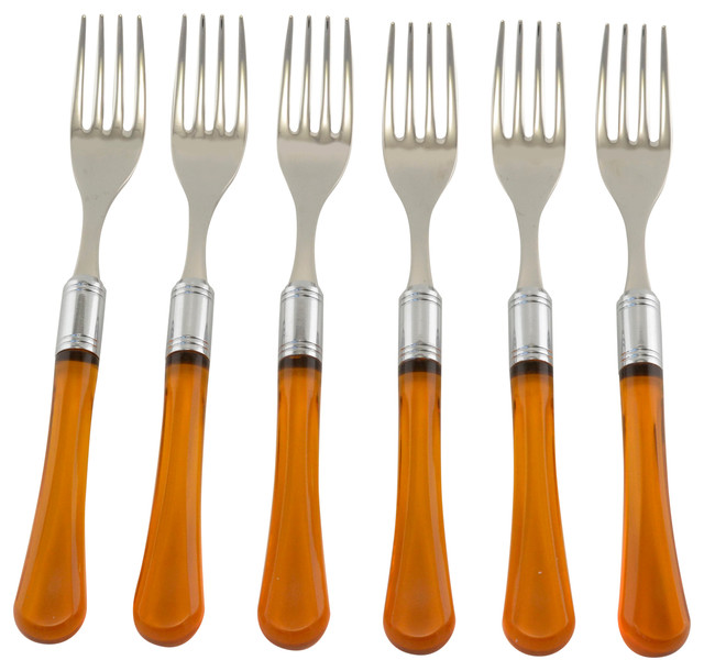 Zappiro 6 Piece Salad Fork Set Modern Flatware And Silverware Sets By A