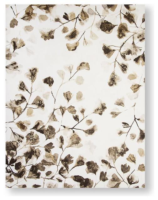 """Sepia Nature Trail "" Printed Canvas, 60x80 cm"