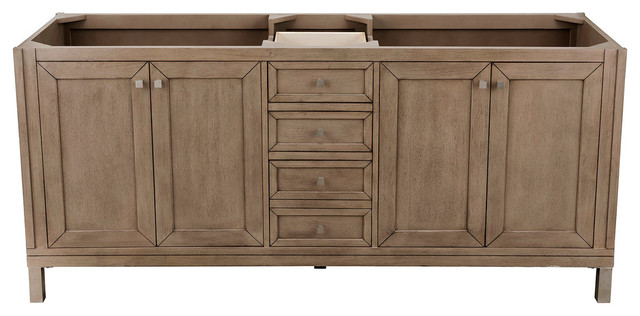 Chicago 72 Double Vanity Transitional Bathroom Vanities And Sink Consoles By James Martin Furniture Houzz