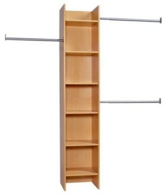 FlexHome Closet Organizer Tower With Rods   Maple