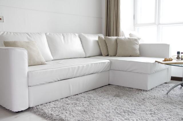 Custom Leather Sofa Bed Slipcover IKEA Manstad Modern