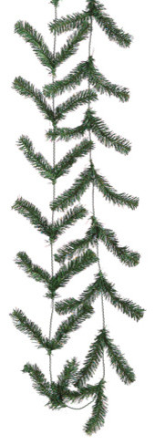 Silk Plants Direct Pine Garland, Pack Of 24, Green.