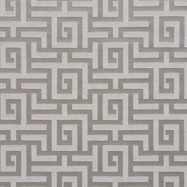 Silver Grey Shiny Geometric Luxurious Faux Silk Upholstery Fabric By The Yard