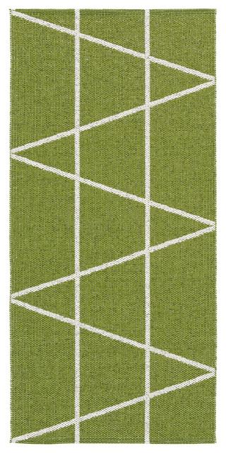 Viggen Woven Vinyl Floor Cloth, Green, 150x150 cm