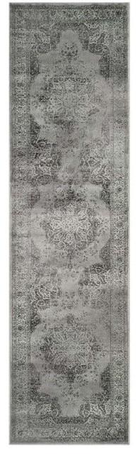 Safavieh Vintage Gray Traditional Rug, Runner 2&x27;2x12&x27;.