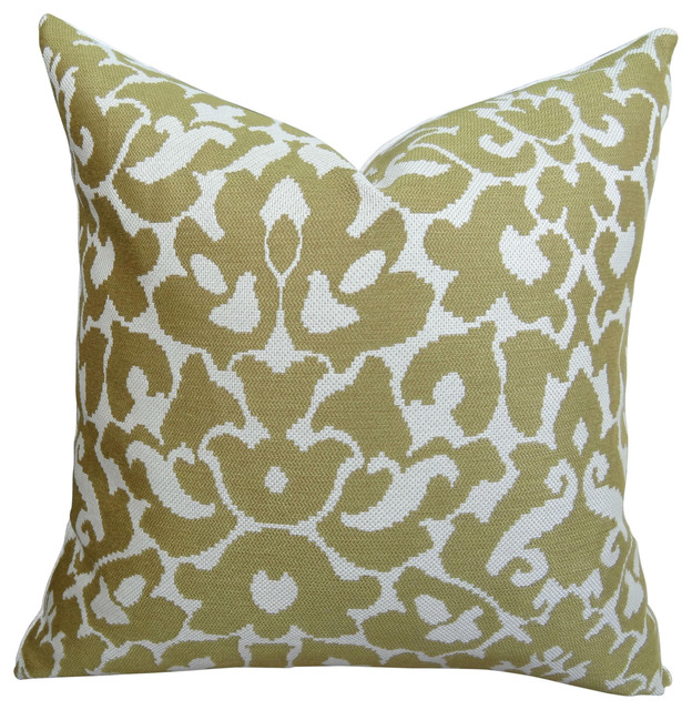 Luxury Decorative Pillow Collection : Thomas Collection Cream Mustard Luxury Couch Pillow - Contemporary - Decorative Pillows - by ...