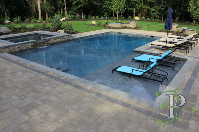cold spring harbor gunite pool spa traditional pool