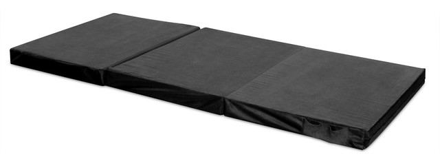 Adult Trifold Hide &x27;a Mat Twin, Black.