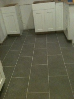 Grout color too light? Gray porcelain tile with light gray grout