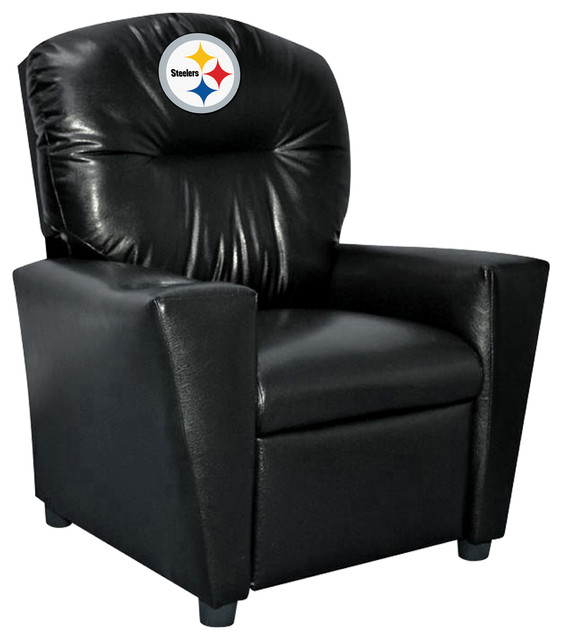 Pittsburgh Steelers Kids Faux Leather Recliner Contemporary Recliner Chairs