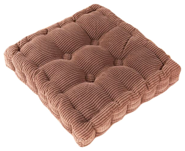 Square Thicken Cushion Tatami Floor Cushion, Car Pillow, Coffee.