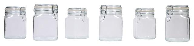 Hermetic Jars, Set Of 6, Small.