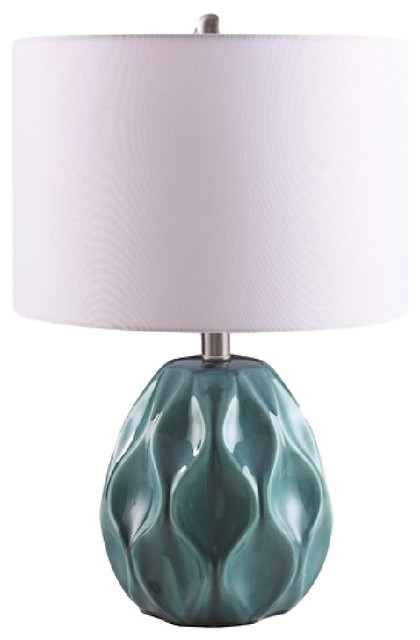 Coaster Table Lamp, Turquoise.