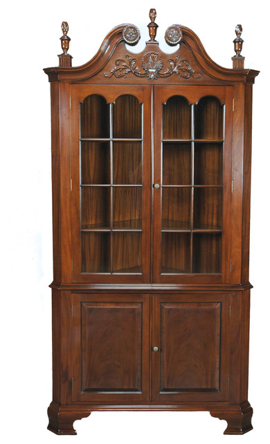 Niagara Furniture Large Mahogany Carved Corner Cabinet - Traditional - China Cabinets And ...