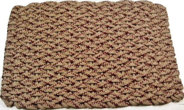 24x38 Rockport Rope Mat, Tan 4 Wine Specs With Tan Insert.