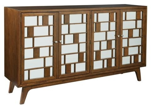 Hekman 27445 Mid Century Modern Media Cabinet Entertainment Walnut
